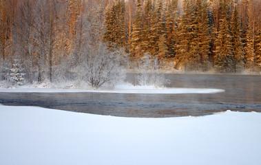 Rapids on the Shuya River in Karelia, Russia