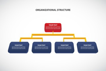 Organizational Structure - corporate hierarchy - Vector infographic template