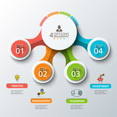 Abstract infographics number options template.