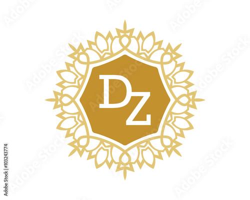 DZ initial royal letter logo