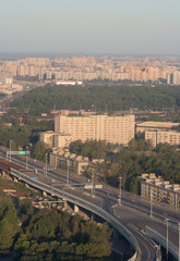 cityscape of St. Petersburg city, Russia, from a height