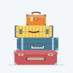 Baggage on background.