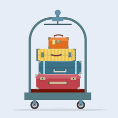 Baggage on trolley