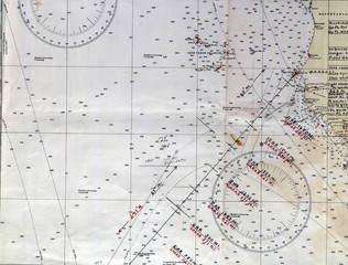 Nautical vintage map