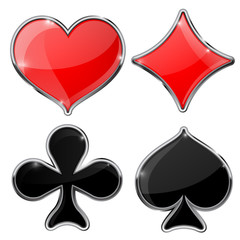 Four cards suits - diamonds, clubs, spades, hearts.