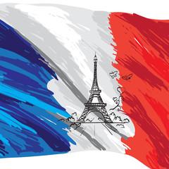 france vector flag isolated