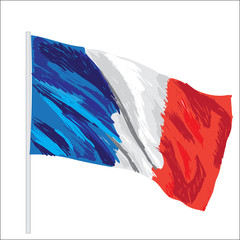 france vector flag isolated