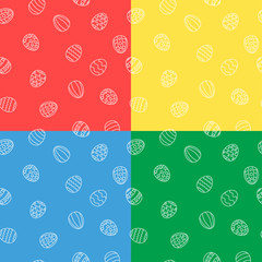 Easter eggs background seamless in vector