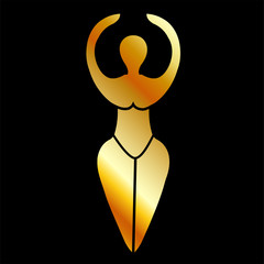 Symbol of the Wiccan goddess