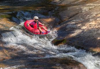 Girl rafting