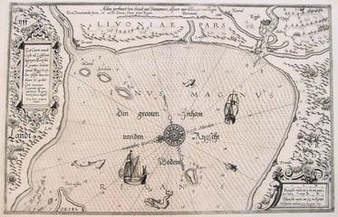 Baltic Sea vintage map