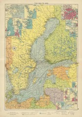 Baltic Sea vintage map