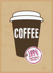 Coffee typographical vintage style grunge poster. Retro vector illustration.