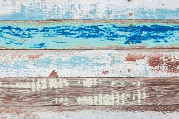 Texture and background of old log with peeled color