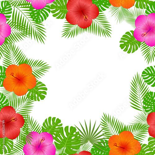 Aloha Hawaiian Party Vector Background