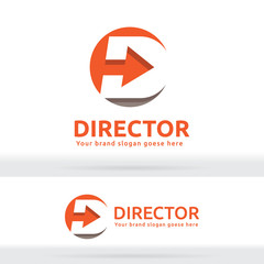 Letter D Arrow Logo, Letter D Arrow Brand Identity