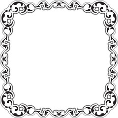 Vintage ornate swirl art frame