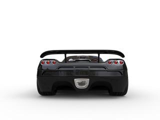 Awesome black sportscar - back view