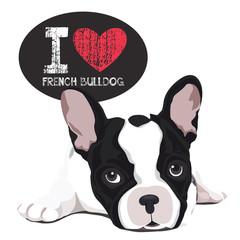 I Love French Bulldog