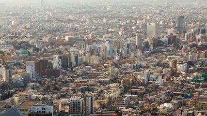 Aerial view of Tokyo midtown residence area, Japan