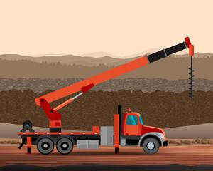 Digger utility crane