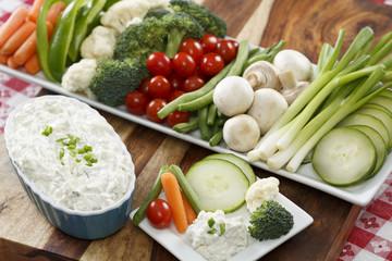 cumber Dip & Vegetables