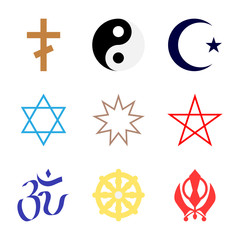 symbol of religion set