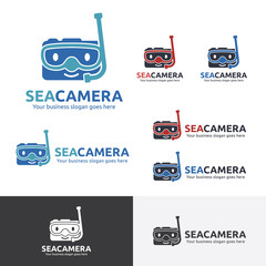 Sea Camera Logo, Under water camera, Diving Camera
