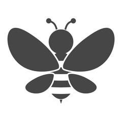 Bee Silhouette illustration icon