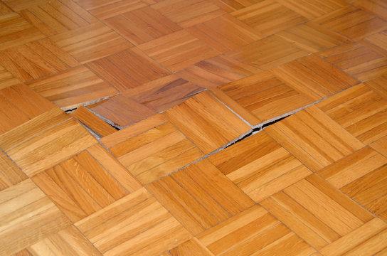 Wooden Floor Starts to Lift Up