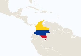 Search photos south america map south america with highlighted colombia map gumiabroncs Images