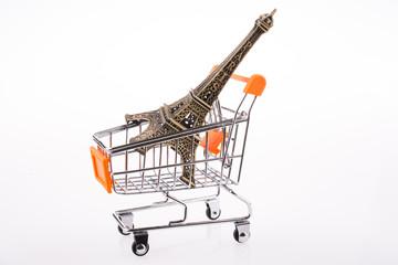 Eiffel Tower in a Cart