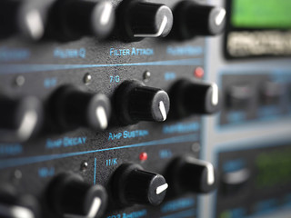 Modern Synthesizer Closeup