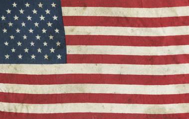 Aged vintage American flag background