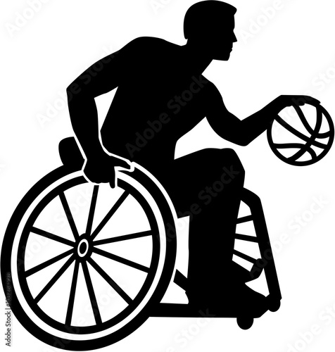 Wheelchair Basketball Silhouette Stock Image And Royalty Free