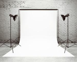 studio with a light set-up