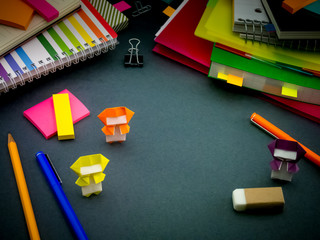 Little Origami Ninjas Helping Your Work on Your Desk When You Ar