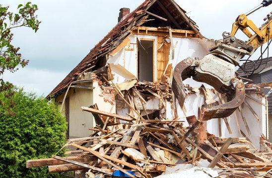Abbruch eines Einfamilienhauses
