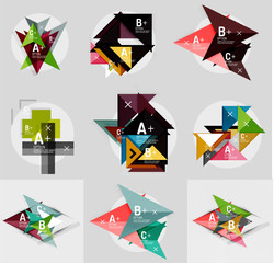 Vector geometrical banner set