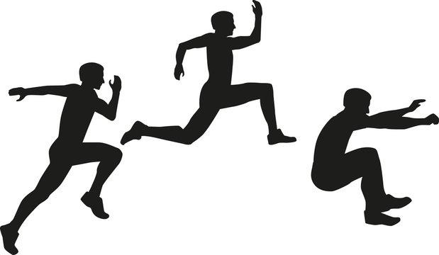 Triple jump icon Dreisprung