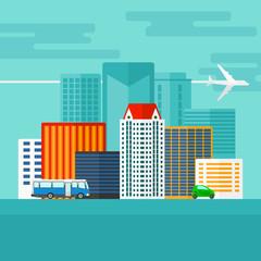 Background of modern city.