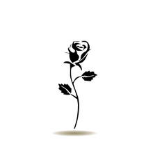 vector rose icon