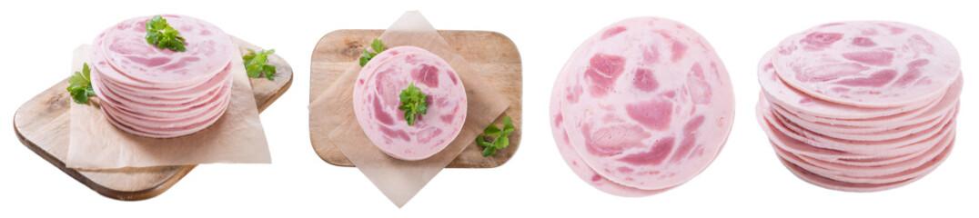 Ham Sausage (isolated on white)