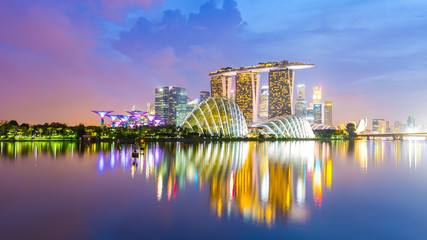 Panorama view of Singapore Skyline