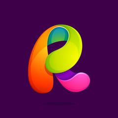 R letter colorful logo.