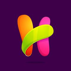 H letter colorful logo.