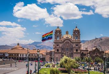Poster South America Country Plaza de Armas in historic center of Cusco, Peru