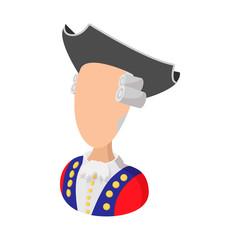 George Washington costume cartoon icon