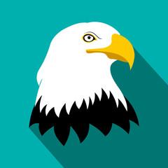 Bald eagle flat icon