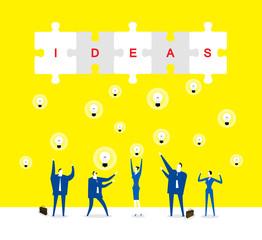 Team  /A lot of ideas Brainstorming.